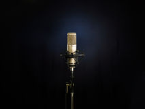 The Golden Microphone Stock Photo