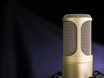 The Golden Microphone Royalty Free Stock Photos