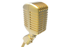 Golden microphone Royalty Free Stock Photo