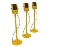 Golden microphones Stock Photography