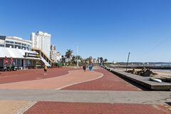 Golden Mile Beachfront in Durban South Africa Stock Photography
