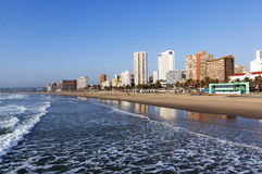 Golden Mile City Skyline in Durban South Africa Royalty Free Stock Image
