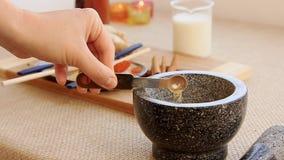 Golden milk drink preparation set. Preparation of Golden milk drink receipt stock video