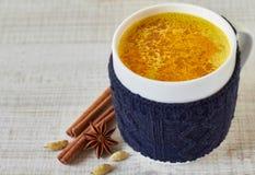 Golden Milk Stock Images
