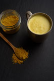 Golden milk and turmeric Royalty Free Stock Photography