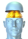 Golden Mind Royalty Free Stock Photography