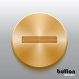 Golden minus button Royalty Free Stock Photo