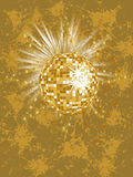 Golden mirror ball Royalty Free Stock Image