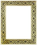 Golden Mirror Frame Cutout Stock Photography