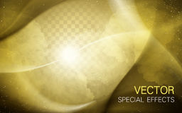 Golden mist background element. Useful for many situations, 3d illustration Stock Photos