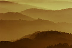 Golden mist in mountain Royalty Free Stock Photo