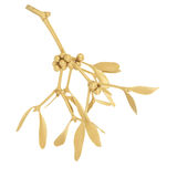 Golden Mistletoe Stock Photos