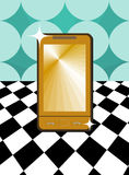 Golden mobile phone Royalty Free Stock Images