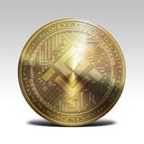 Golden mobilego coin isolated on white background 3d rendering. Illustration Royalty Free Stock Photography
