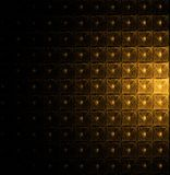 Golden modular pattern on black Royalty Free Stock Photo