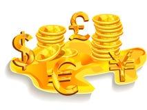 Golden money Royalty Free Stock Photography