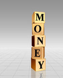 Golden money with reflection Stock Photos
