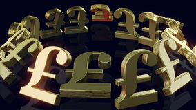 Golden money signs stock footage