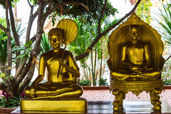 Golden Monk statue Royalty Free Stock Photography