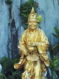 Golden monk. Statue of chinese monk in temple Royalty Free Stock Photos