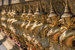 Golden Monuments at buddhist temple Royalty Free Stock Photo