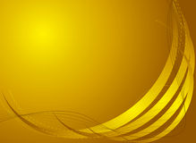 Golden moon. Abstract golden background with plenty of room to addyour own text stock illustration