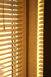 Golden morning II. Morning sun glowing through the blind Royalty Free Stock Photos