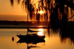 Golden Morning Yacht Royalty Free Stock Photo