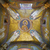 Golden mosaic with angels Stock Image