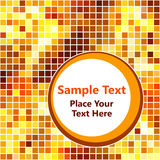Golden mosaic background Stock Photography