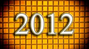 Golden mosaic background for new year 2012. Texture of Golden mosaic background 2012 Royalty Free Stock Photography