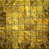 Golden mosaic background Stock Photography