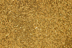 Golden mosaic background Stock Image