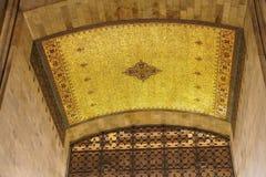 Golden mosaic ceiling Stock Photos