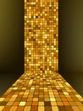 Golden mosaic, gold background. EPS 8. File included Royalty Free Stock Photography
