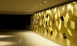 Golden mosaic interior Royalty Free Stock Photography