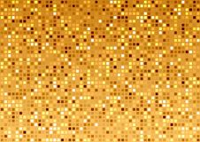 Golden Mosaic Texture Stock Photo