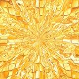 Golden mosaic texture Stock Photo