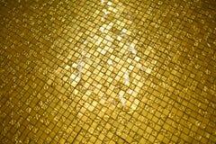 Golden mosaic tile Stock Photo