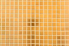 Golden mosaic wall. Close up Royalty Free Stock Photo