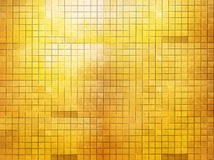 Golden mosaic wall Royalty Free Stock Photos