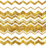 Golden mosaic zig zag abstract background Royalty Free Stock Photo