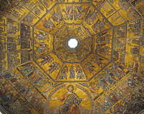 Golden mosaics of of Baptistery of saint John Stock Photo
