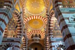 The golden mosaics of Notre-Dame de la Garde, Marseille Royalty Free Stock Images