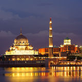 Golden mosque Stock Photo
