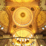 Golden mosque - interior ( Yeni Camii ) Royalty Free Stock Photo