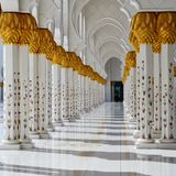 Golden mosque luxury royalty free stock photo