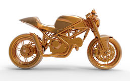 Golden Motorcycle Royalty Free Stock Photo