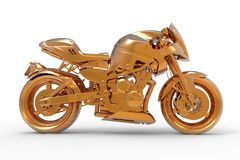 Golden Motorcycle Royalty Free Stock Photos