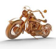 Golden Motorcycle Stock Photography